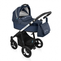Коляска Baby Design Husky New (Бэби Дизайн Хаски Нью) 2 в 1, 03 Синий